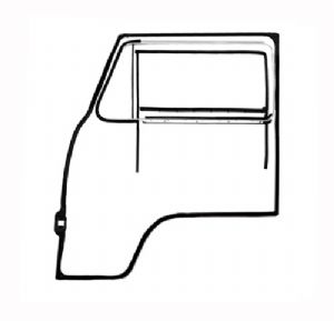 Cab door seal kit VW Type 2 68>79 Right with opening quarter window